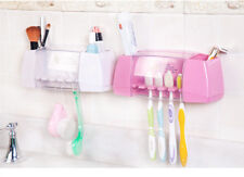 Multifunctional toothbrush holder storage box bathroom accessories suction hooks