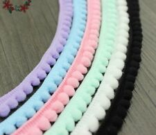 Tiny Pom Pom Lace Ribbon Fringe Trim Ball Knitted Crocheted Craft Cute Materials