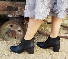 EOS winter Made In Portugal CLINTA BLACK Leather ankle boots!RRP$249 SALE!
