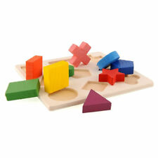 Puzzle Montessori Kids Baby Learning Geometry Educational Wooden Puzzle Jigsaw