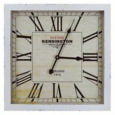 Kensington Station Square Wall Clock - 16W in. - Ivory, Black