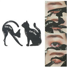 2X/Set New Cat Line Eye Makeup Tool Eyeliner Stencils Template Shaper Model HU