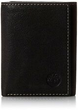 Timberland Mens Leather Trifold Wallet With ID Window, Black (Cavalieri)