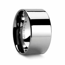 Thorsten CHARLESTON Pipe Cut Polished Finish Tungsten Carbide Band - 12mm Band