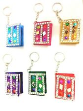 Mini Notebook Journal Doodle Book Mirror Keychain Key Ring Chain Keyring Gift