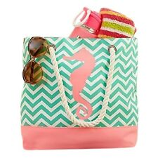Beach bag tote with zipper. Perfect Mothers Day Gifts.