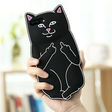 iPhone X 8 7 Plus 6 5s 3D Cute Cartoon Soft Silicone Back Cover Case Pocket Cat