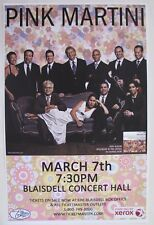 Pink Martini Band Concert Poster at Neal Blaisdell Concert Hall March 07, 2010