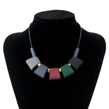 Women Necklace Statement Necklaces & Pendants Colorful Wood Beads Necklace