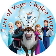 """Disney Frozen Personalised 7.5"""" Round Photo Cake Topper Edible Rice Paper"""