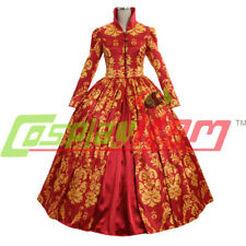 Medieval Renaissance Victorian Dress Red Wedding dress ball gown cosplay costume
