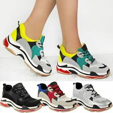 Womens Chunky Trainers Platform Triple Sole Dad Sneakers Runners Bali Shoes New