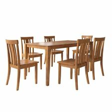 Weston Home Lexington 7 Piece Dining Set with Slat Back Chairs