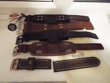 NEW Fossil or Diesel Leather Watch strap to suit different models + fossil bag