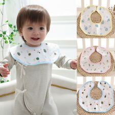 Newborn Infant Baby 360 Degrees Rotation Soft Cotton Bibs Saliva Towel Utility