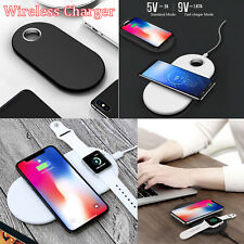 For Apple Watch 2 3 iPhone X 8/8 Plus Samsung Qi Wireless Charger Charging Pad