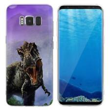 Case Cover For Samsung Galaxy S6 S7 Edge S8 S9 Plus Dinosaurs Reptiles Animals
