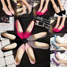 Women Casual Ballet Flat Shoes Boat Loafers Pointy Toe Slip On Single Shoes Size