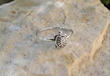 Turtle Ring, Dainty Solid Sterling Silver Turtle Ring, Turtle Jewelry