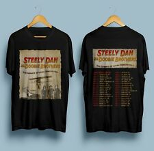 New Steely Dan & The Doobie Brothers Tour 2018 Dates T-Shirt Gildan Black S-3XL
