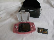 Game Boy Advance In Pink + Logic 3 Light, 2 x Games And Case
