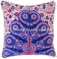 Set Of Indian Mandala Square Cushion Cover Decorative Cotton Throw Pillow Case