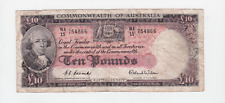 1950's Australia Coombs Wilson 10 Pounds Ten £10 Paper Banknote note W-385