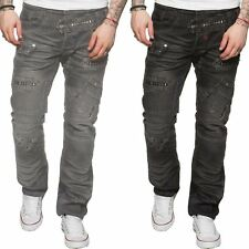 Eto Mens Designer Funky Jeans Regular Straight Fit Stylish Denim Pants All Waist