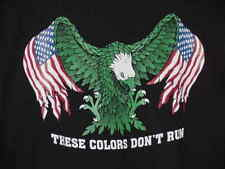 IRISH T-SHIRT GREEN AMERICAN EAGLE WITH FLAG
