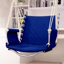 Garden Patio Hammock Outdoor Porch Hanging Cotton Rope Swing Chair Seat Durable
