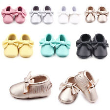 Fassel Princess Boy Girl Moccasin Toddler Baby Shoes Soft Sole Leather Bow New