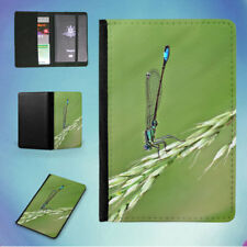 DAMSELFLY GRASS INSECT MACRO FLIP PASSPORT COVER WALLET ORGANIZER
