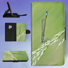DAMSELFLY GRASS INSECT MACRO FLIP CASE COVER FOR SAMSUNG GALAXY PHONE