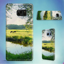 LANDSCAPE WATER MEADOW GREEN HARD CASE FOR SAMSUNG GALAXY S PHONES