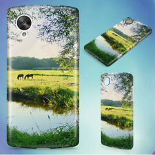 LANDSCAPE WATER MEADOW GREEN HARD BACK CASE COVER FOR NEXUS PHONES