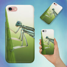 NATURE INSECT DAMSELFLY LEAF HARD BACK CASE FOR APPLE IPHONE PHONE