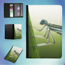 NATURE INSECT DAMSELFLY LEAF FLIP PASSPORT COVER WALLET ORGANIZER