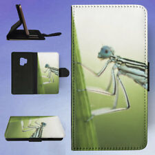 NATURE INSECT DAMSELFLY LEAF FLIP CASE COVER FOR SAMSUNG GALAXY PHONE