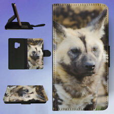 AFRICAN WILD DOG 2 FLIP CASE COVER FOR SAMSUNG GALAXY PHONE