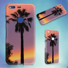 THREE PALM TREES SUNSET HARD BACK CASE FOR GOOGLE PIXEL PHONE
