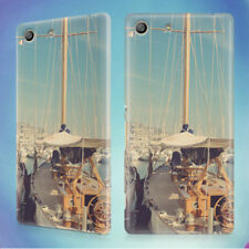 BOATS PORT SAILING SHIPS HARBOR HARD BACK CASE FOR SONY XPERIA PHONES