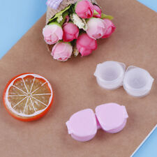 1Pc lens box mini plastic soaking portable travel contact storage case holder HU