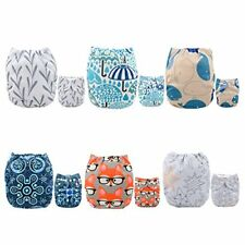 ALVABABY Baby Cloth Diapers One Size Adjustable Washable Reusable for Baby