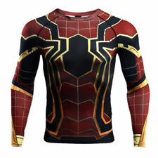 Mens Workout T shirt  Spiderman Compression T-Shirt Fitness Sports Tights Jersey