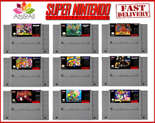 Best 60 Game For Nintendo Super SNES Cartridge NTSC Version Tested Donkey Mario