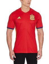 adidas Men's Spain Home Jersey Shirt Red Football Soccer Espana World Cup 16-17