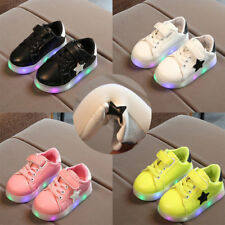 Boys Girls LED Up Sneakers Kids Light Children Sport Shoes Luminous Trainers