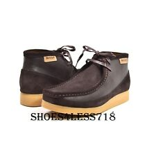 NEW MENS BRITISH WALKERS ORIGINAL EXCLUSIVE TWO TONE BROWN LEATHER WALLABEES