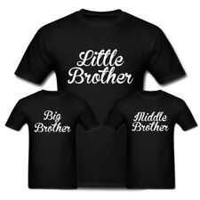 Little Brother, Middle Brother, Big Brother Funny T Shirt Brother Gift Idea Tee