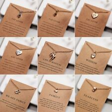 Charm Necklace Cat Heart Pendant Gold/Silver Clavicle Chains Choker Card Jewelry